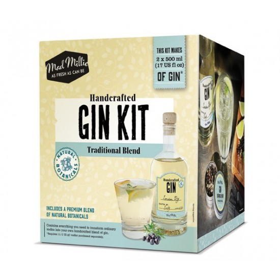 Handcrafted Homemade Gin Kit Traditional Blend