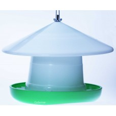 Hanging Poultry Feeder with Cover - Crown Suspension 3 - 15kg