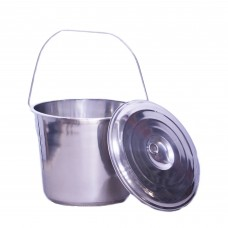 High Quality Milk Bucket Stainless with Lid in 7 / 10 / 12 / 17 litre