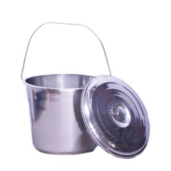 High Quality Milk Bucket Stainless with Lid in 7 litre, 10 litre or 17 litre