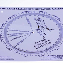 Horse Mare Foaling Gestation Calendar