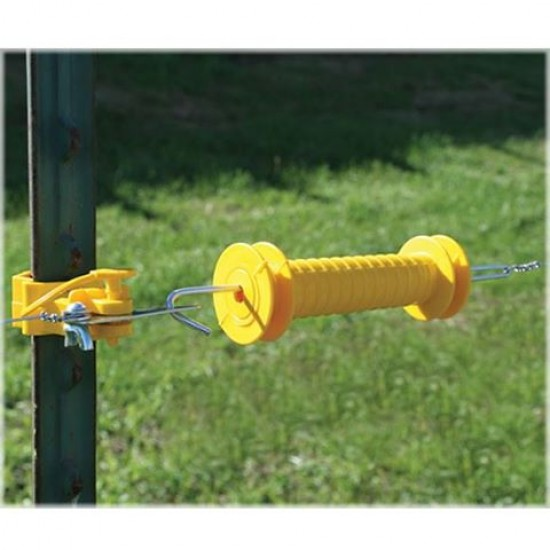 Electric Fence Handle - high visibility white