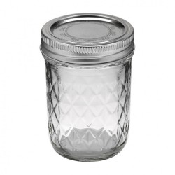 12 x 8oz (240ml) Quilted Jam Jars Ball Mason