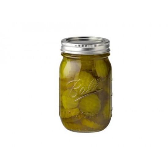 1 x Pint REGULAR Mouth Jar and Lid Ball Mason Single