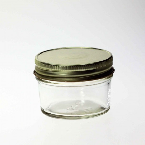 12 x Bell Smooth 120ml / 4oz Jam Jelly Regular Mouth Jars Lids Not Included