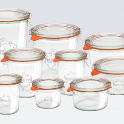 1 x 580ml Tapered Jar Complete - 742  WECK
