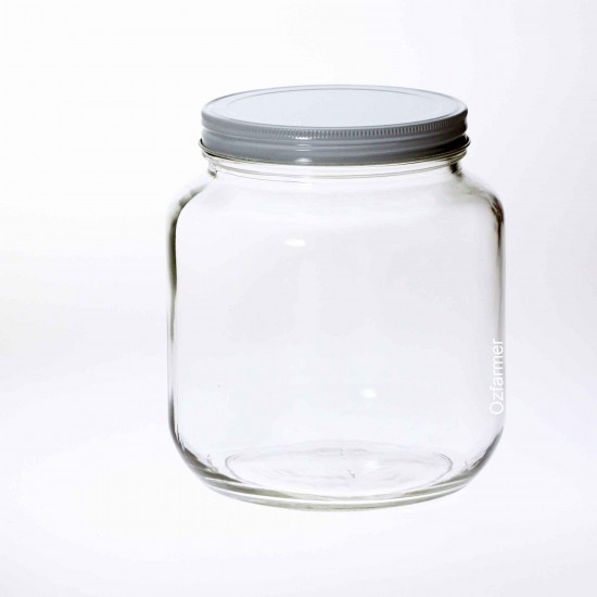 6 x Bell 64 oz / Half Gallon Smooth  Jars with  lids