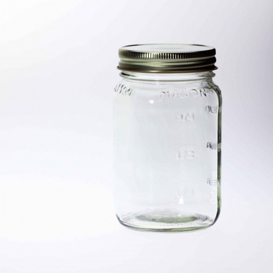 12 x Bell Square Pint 16oz Regular Mouth Jars Lids Not Included