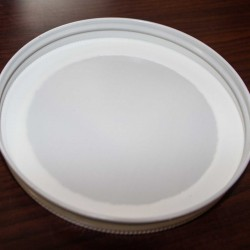 110mm SCREW TOP CT Tin Lid with Food Safe Lining One Piece WHITE
