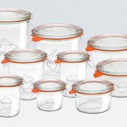 12 x  140ml Weck Mini Tapered Jars  -761