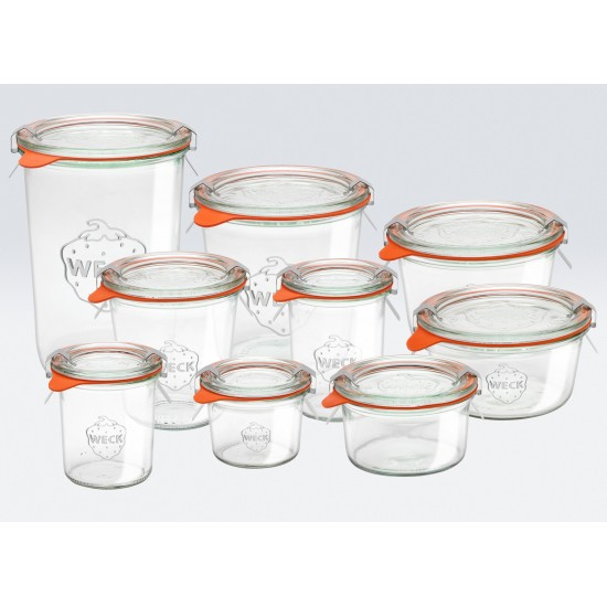 12 x  140ml Weck Mini Tapered Jars  -761
