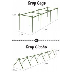 Jumbo Crop Cage Kit with Netting Pest Deterrent Bird Rodent Frost Protection