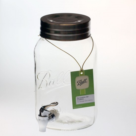 Kefir Fermenting Jar / Kombucha Dispenser With Plastic Tap and Lid