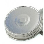 Lid One Piece High Temp REGULAR Mouth SILVER