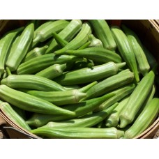 Okra Clemsons Spineless  Seed Packet