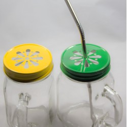 Ozi Green and Gold Special Box Of 6 Ozi Jars with 3 Yellow / 3 Green Lids