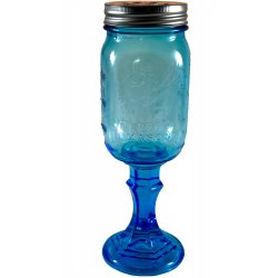 Pint Blue Redneck Style Ball Mason Wine Moonshine Jar