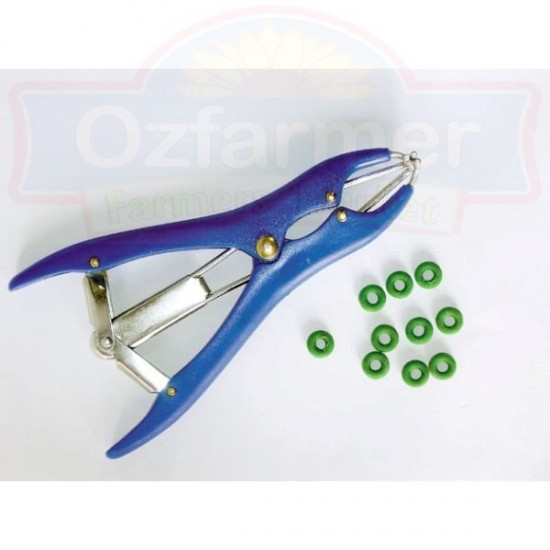 Plastic Castration / Marking Ring Applicator Castrator with 30 marking rings included
