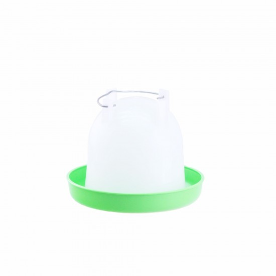Poultry drinker / water feeder Crown with straight sides 1.5 or 2.6 litres