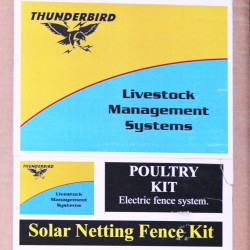 Solar Poultry Netting Electric Fence Kit with Solar Energiser Farming Supplies