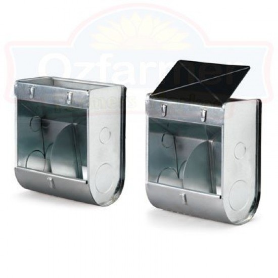Poultry / Rabbit Twin Compartment Feeder with Lid – External Cage Hanging