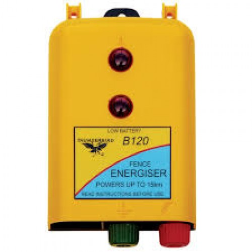 Powers up to 15km 12V Battery Fence Energiser