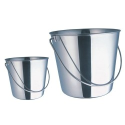 Quality Stainless Steel Milking Bucket 7 or 10 litre Farming Supplies