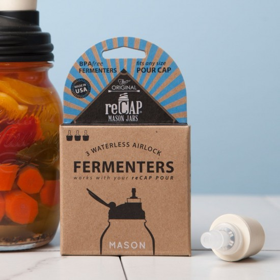 Recap Fermenter Waterless Fermenting Valve Pack of 3