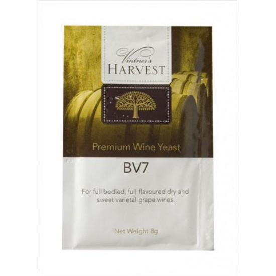 Wine Yeast BV7 Full Flavoured Dry Sweet White Wine