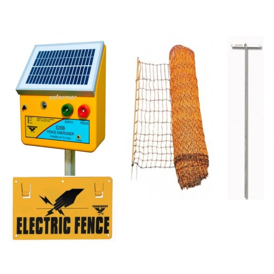 Netting Electric Fence Kit with Solar Energiser Goats / Sheep/ Calves